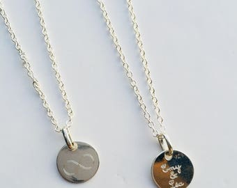 Necklace with personalized engraving