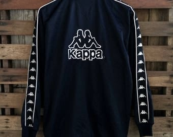 Vtg 90s kappa biglogo embroidery logo/spellout , streetwear fashion !! With deadstock condition