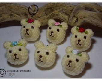 Crochet Bear / Bear Keyring / Bear Keychain / Bear Pendant / Bear Amigurumi / Rilakkuma Amigurumi / Rilakkuma Plushie / Rilakkuma Teddy Bear