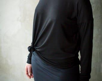 Black Top/ Teneta Wear/ Black Summer
