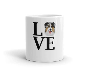 I Love my Australian Shepherd Gifts for dog owners, Australian Shepherd Dog Mug