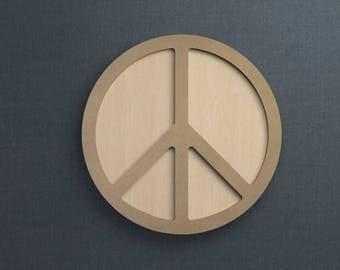 Frame Kit, Peace Sign, Wood Frame, Picture Frame, DIY