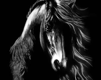 painting modern horse 2 pastel
