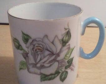 """HandPainted Lefton China  Rose Cup 3"""" tall"""