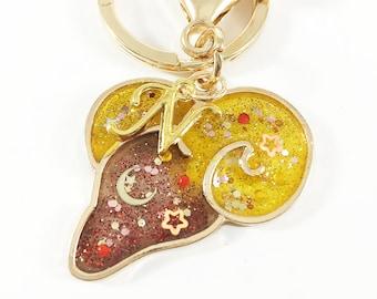 Aries Gift For Her, Zodiac Keychain, Zodiac Gift, Astrology Gift, Best Friend Gift Idea, Birthday Gifts For Her, Aries Keychain, Aries Gift