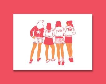 """Print """"The Gang"""" A3"""