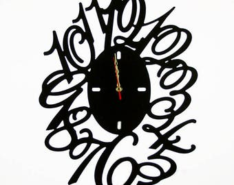 Fashion Art wall clock, Modern wall clock, Wall clock with numbers