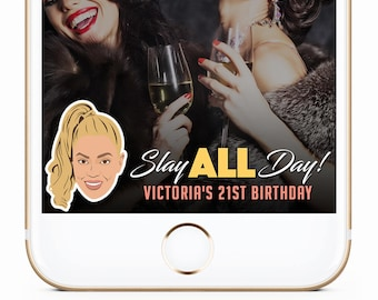 Beyonce Birthday Geofilter, Birthday Snapchat, 21st Birthday Geofilter, 30th Birthday Geofilter, Beyonce Birthday