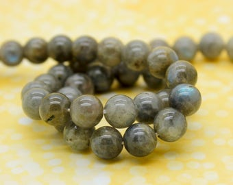 Labradorite Round Smooth Gemstone Beads (4mm 6mm 8mm 10mm 12mm)