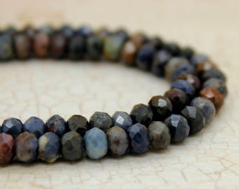 Sapphire Rondelle Faceted Gemstone Beads