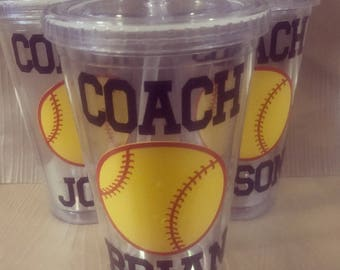 Coach Tumbler Personalized