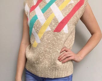 Geometric Vintage Sweater