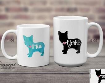 Yorkie Mug, Dog Lovers Gift, Yorkie Coffee Mug, Yorkie Gift, Yorkshire Terrier, Coffee Cup, Personalized Mug, Custom Cup, Christmas Gift