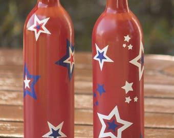 Wine Bottle Decor / Wine Bottle Tiki Torch