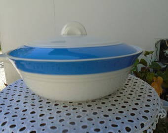 Soup tureen or vegetable art deco - mid century - Ceranord - Saint Amand - Languedoc Collection