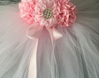 Beautiful Pink Tutu Dress Infant Baby Girl First Birthday Dress