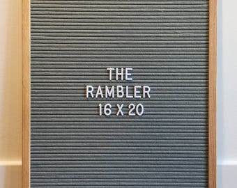 "Premium grey felt letterboard with interchangeable letters - 16"" x 20"" - FREE CANADA SHIPPING!"