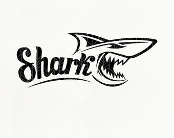 Shark SVG Files, Shark dxf, png, eps, Silhouette Studio, Cut File