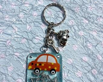 Keychain, charm, pendant, car