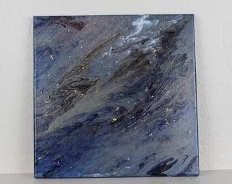 "Acrylic Fluid Painting ""Delta"" 12""x12"""