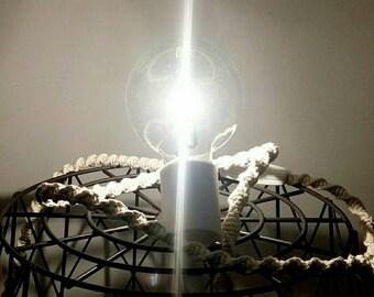 wandering lamp switch white macrame.