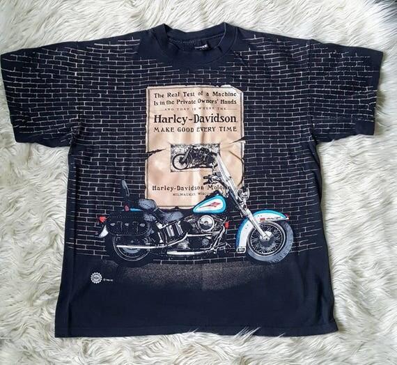 Rare 1995 Harley Davidson brick wall shirt in black size XL. Vintage Harley Davidson T-shirt
