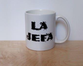 La Jefa The Boss 11 oz White Ceramic Mug
