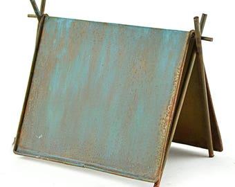 Rustic Blue Tent 3  x 4  x 3  - Metal - Miniature  sc 1 st  Etsy & Miniature tent | Etsy