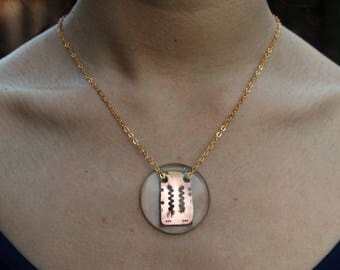 PCB Copper Recycled Circuit Board Necklace