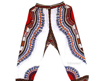 Dashiki Pants White
