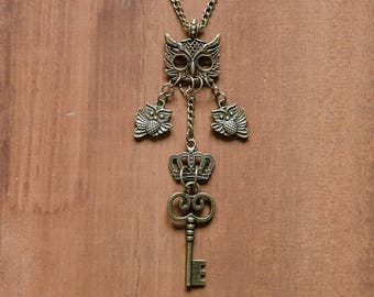 Steampunk Owl Necklace - Steampunk Jewellery - Steampunk Necklace