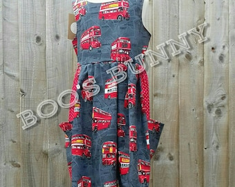 Age 6 open back dress with pockets