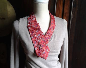 upcycled necktie neck jewelry necklace