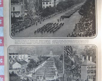 1920–Victory Parade WW I- Washington, D.C. - from Leslie's Photographic Review of The Great War (WW I), Vintage, Rare Account of World War I