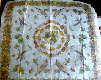 For decoupage rice paper birds