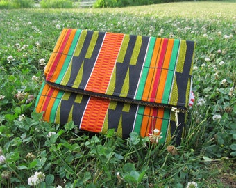 African Pride Fold Over Clutch