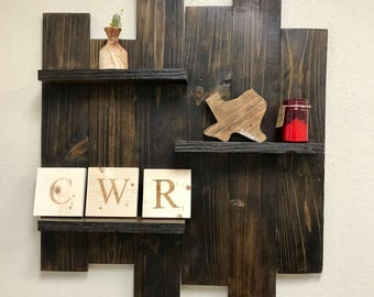 Reclaimed Wood Shelf Display