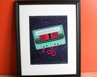 Awesome Mix Tape 11x14 Print