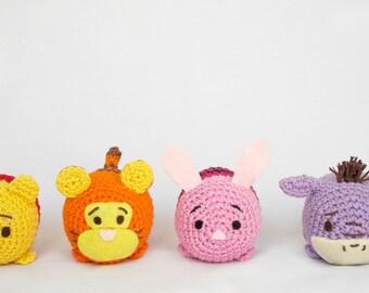 Tsum tsum Disney amigurumi pattern - Pooh, Piglet, Eeyore, Tiger Amigurumi PATTERN- crochet doll PATTERN