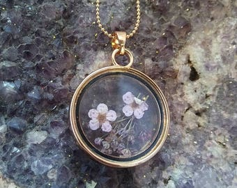Mini Floating Flowers Necklace