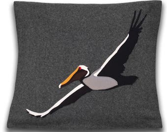 Colorful Pelican Decorative Cushion Cover