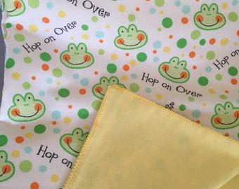 Hop on over Baby recieving blanket