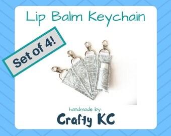R + F Lip Shield Keychain Clip - Set of 4 – ChapStick Holder Keychain by CraftyKC