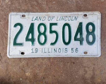 Old Illinois Licence Plate - 1956