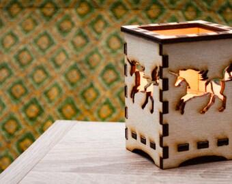Candle / Lantern made of birch