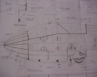 Schweitzer TG-3 Glider Model Airplane Plan 128 Inch Wing Span