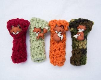 Crochet ChapStick Holders - Foxes