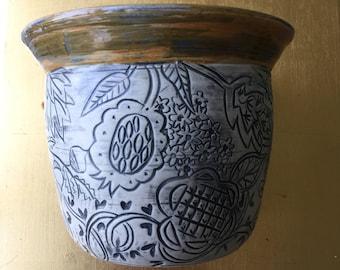 Extravagant Botanical Sculptural Vase