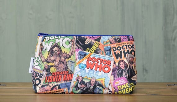 Dr Who comic print large bag