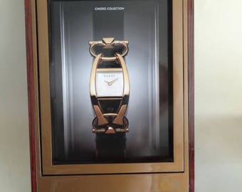 ITALY GUCCI Watch Store Display, Gucci Advertising Window Display Sign, Jeweller's Shop